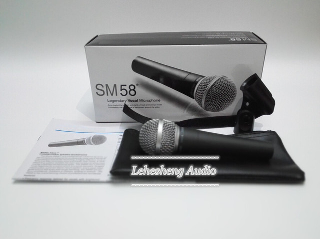 High quality SM 58LC Free shipping vocal Karaoke microfone dynamic wired handheld microphone SM 58