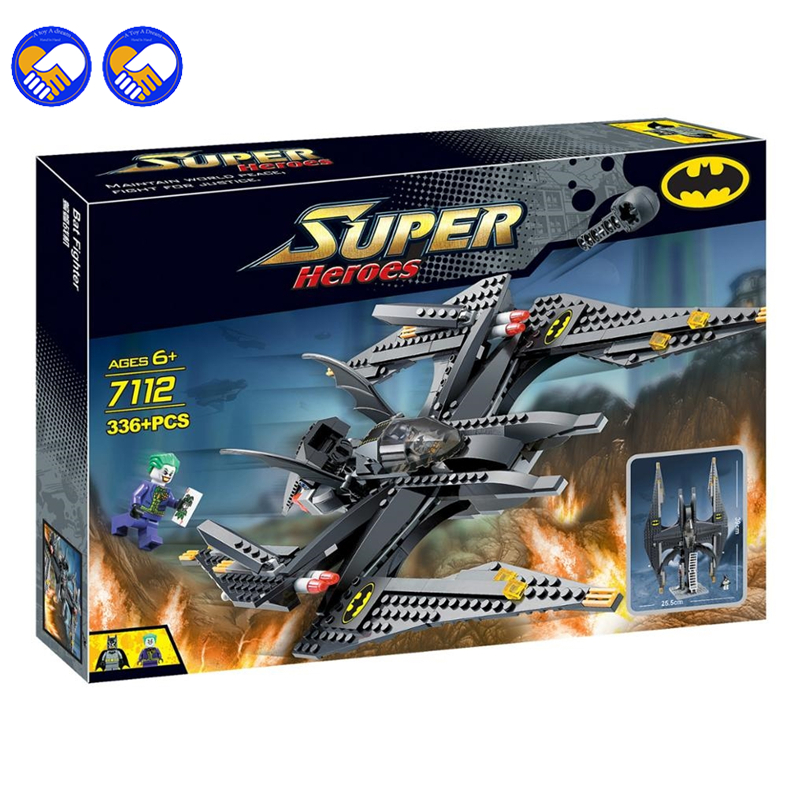 A toy A dream Decool 7112 Super Heroes Batman&Joker Batwing Blocks Bricks Toys Set Boy Game Compatible with Lepin a toy a dream super heroes movie joker poison ivy calendar of people batman robin bricks building blocks toys lele 34012