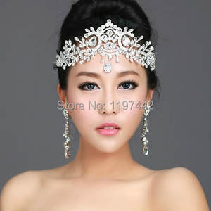 2020 hot sale bridal Hairbands Crystal Headbands women Hair Jewelry Wedding accessories crystal Tiaras And Crowns Head Chain