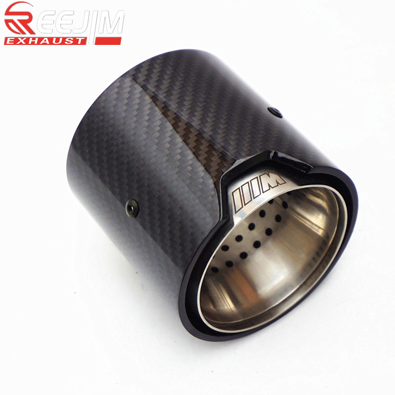 2019 Model Glossy  Carbon fiber Exhaust Tip for BMW MPerformance 235i 240i 335i   Akrapovic exhaust tip   car accessories2019 Model Glossy  Carbon fiber Exhaust Tip for BMW MPerformance 235i 240i 335i   Akrapovic exhaust tip   car accessories
