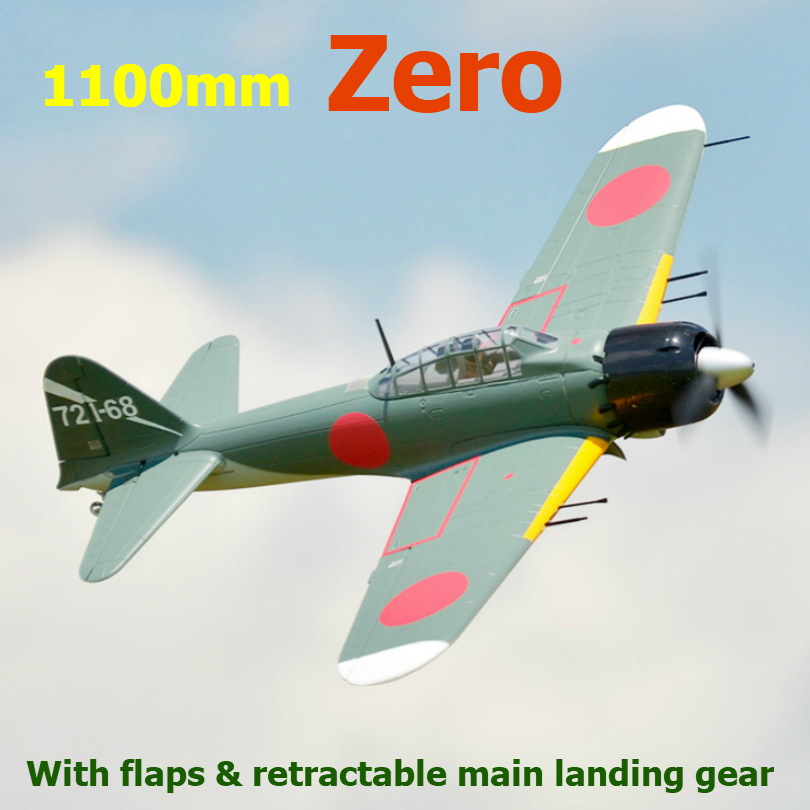 FMS 1100mm 1 1M Zero Fighter A6M5 6CH with Flaps Retracts 3S EPO PNP RC Airplane