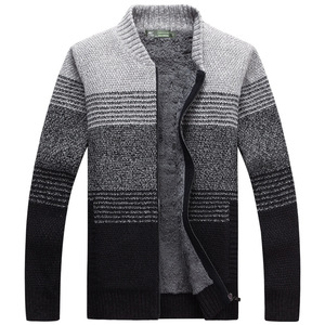 Мужской толстый свитер с начесом, вязаный свитер разных цветов, теплый повседневный жилет с длинным рукавом, XXXL