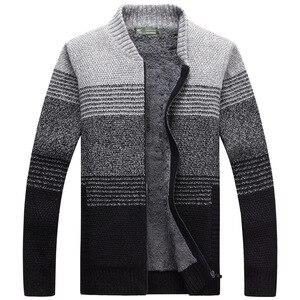 Разные цвета, зимние мужские свитера с начесом, мужской толстый свитер, мужское вязаное пальто, Топы XXXL, теплый повседневный жилет с длинным ...
