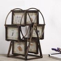 Vintage Ferris Wheel Photo Frame Home Decor Figurines TV Cabinet Set Creative Windmill Photo Decorations Personalized Ornaments