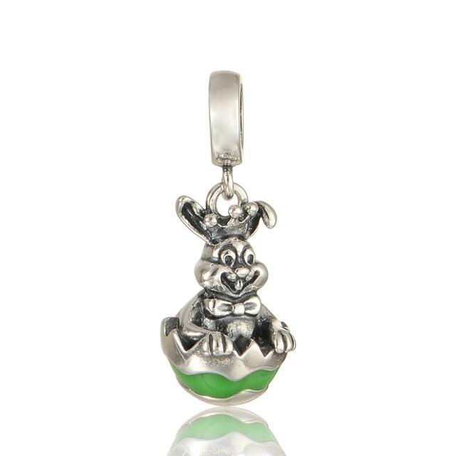 Rabbit Dangle Beads Fit Pandora Charms Silver 925 Original Bracelet for Women New DIY Jewelry Making Fashion Silver 925 Jewelry
