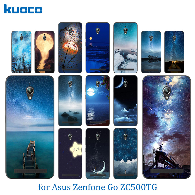 Soft Silicone Case For Asus Zenfone Go ZC500TG Back Cover Night Sky Pattern For fundas Asus ZC ZC500 500 500TG TG Phone Case