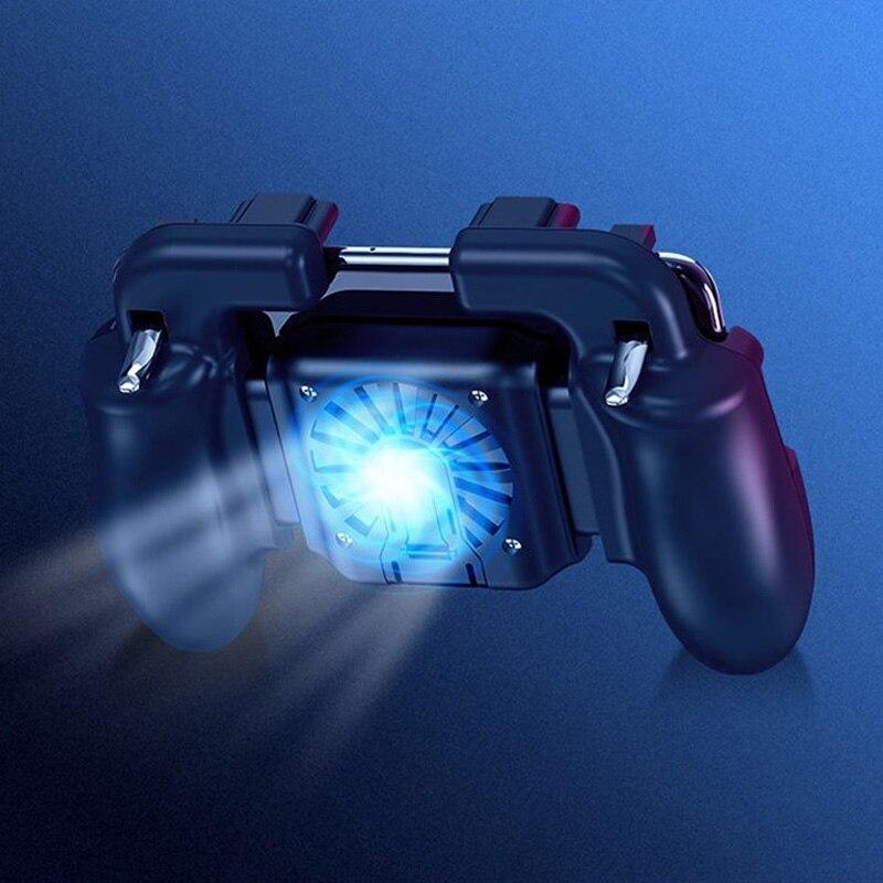 Image 5 - Контроллер для игровых приставок триггер кулер охлаждающий вентилятор Fire PUBG мобильный игровой контроллер Джойстик металлический L1 R1 триггер игровой аксессуар-in Геймпады from Бытовая электроника