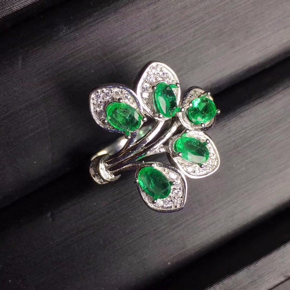 Fashion Butterfly Emerald Ring Charms 925 Sterling Silver Rings For Women Party Brand New Fine Jewelry