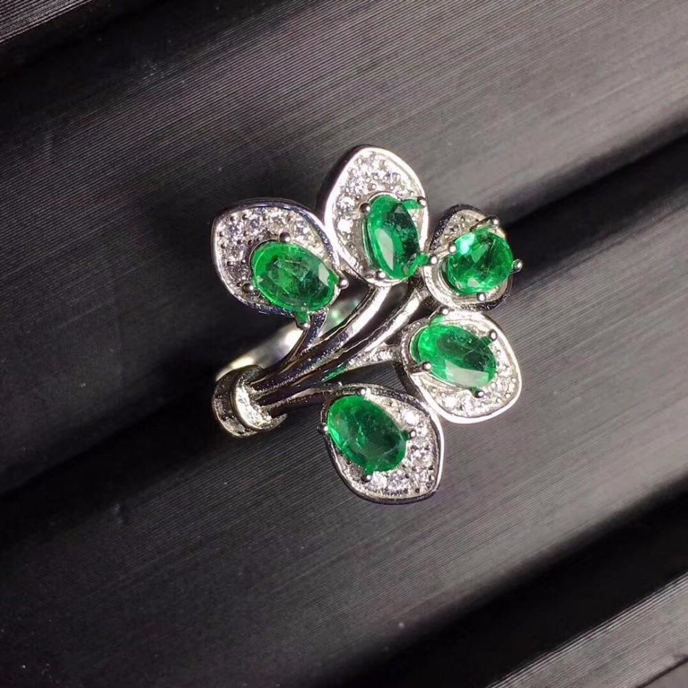 Mode papillon émeraude bague charmes 925 en argent Sterling anneaux pour les femmes fête tout nouveau bijoux fins-in Anneaux from Bijoux et Accessoires    1
