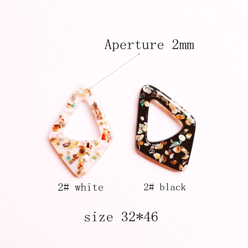 Japanese and Korean fresh grain texture acrylic fresh black and white hand made DIY material earring earrings accessories in Jewelry Findings Components from Jewelry Accessories