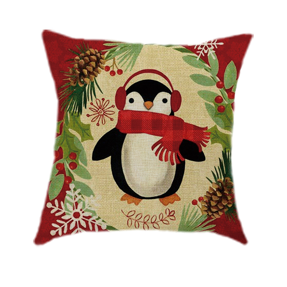 Christmas Xmas Linen Cushion Cover Throw Pillow Case Home: Aliexpress.com : Buy Cotton Linen Christmas Pillow Case