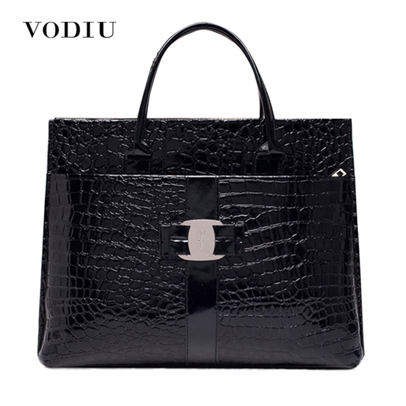 2017 New Luxury OL Lady Handbags Women Famous Brands Crocodile Pattern Hobo Handbag Tote Fashion Lady PU Shoulder Handbag Black almost famous new black tough love sweater msrp $49 00