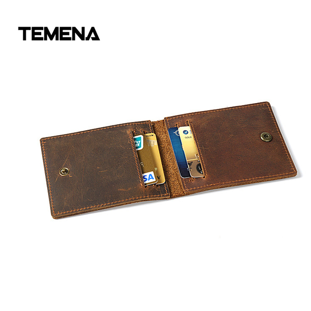Temena business card holder wallet genuine leather vintage credit temena business card holder wallet genuine leather vintage credit cards business small thin coin purse for reheart Images