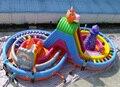 2016 parque casa de juegos juguetes bomba de la piscina comercial al aire libre gran tobogán inflable trampolín inflable cama de salto castillo