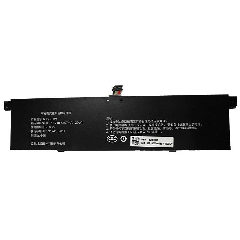 "Image 2 - 7XINbox 7,6 V 39Wh 5107 mAh/5230 mAh оригинальный R13B02W R13B01W Аккумулятор для ноутбука Xiaomi Mi Air 13,3 ""серии Tablet R13B02W R13B01WАккумуляторы для ноутбуков    АлиЭкспресс"