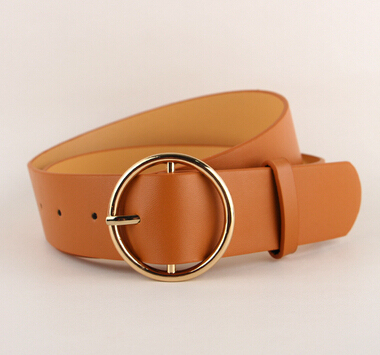 Newest Hot Sale fashion gold Buckle Female Leather Strap Belts for Women Ms. clothing Cummerbunds Ladies Fashion Girdles gifts 1