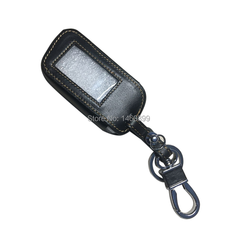 Genuine Leather A93 Car Key Case Cover For Key Fob Starline A93 A63 A39 A36 Two Way Car Alarm Remote Control LCD Keychain