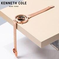 Kenneth Cole 2018 Новое поступление женские часы кварцевые сталь Золотой Серебряный ремешок браслет люксовый бренд часы KC50232004