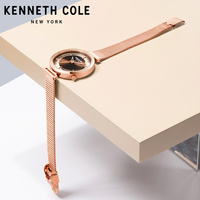 Kenneth Cole 2018 Новые поступления женские часы кварцевые Сталь цвета: золотистый, серебристый ремешок браслет Элитный бренд часы KC50232004