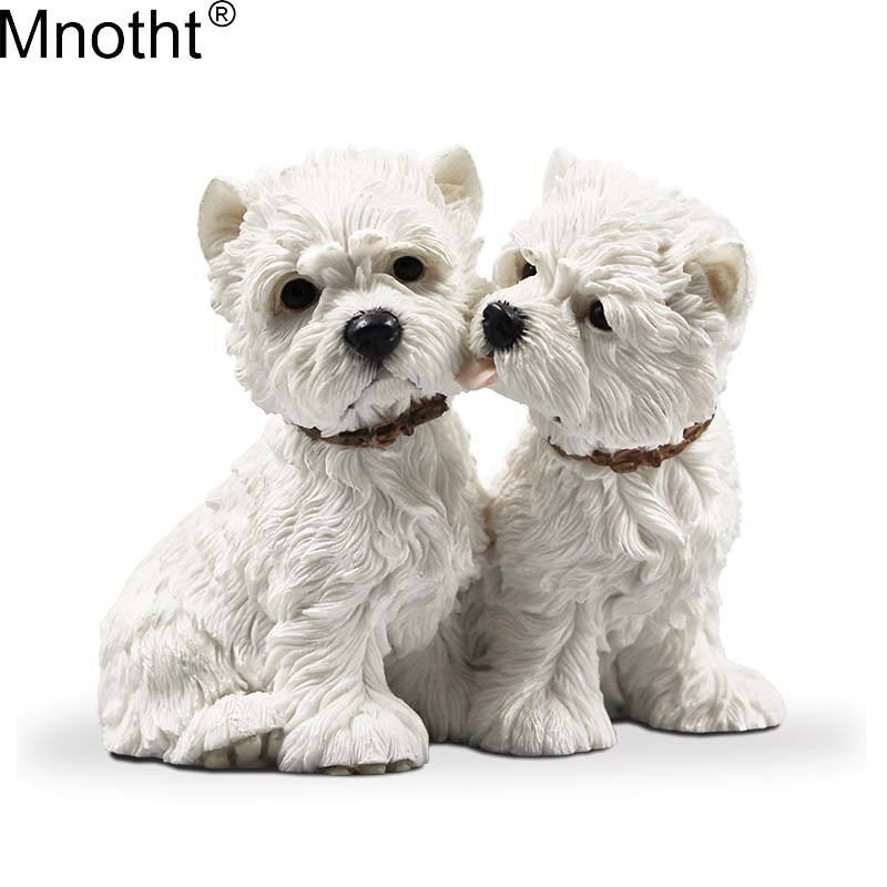 Mnotht 1 6 West Highland Lovers Dog Model Resin Anmial Dog Scene Accessory Toy for Action