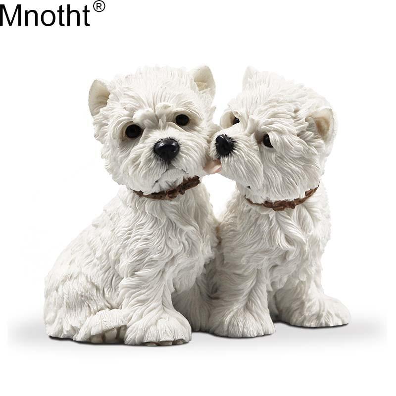 Mnotht 1/6 West Highland Lovers Dog Dog Model Resin Resin Anmial Dog - Խաղային արձանիկներ - Լուսանկար 1