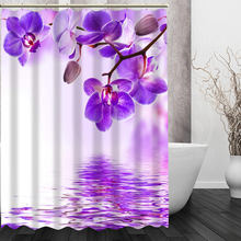 Modern Style Pop boutique orchids flowers Shower Curtain Pattern Customized Shower Curtain Bathroom Fabric For Bathroom Decor