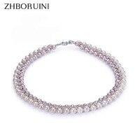 ZHBORUINI Fashion Halskette Perle Schmuck Natürlichen Süßwasser-perle Yuanyuan Gao 925 Sterling Silber Schmuck Für Frauen Hochzeit Gif