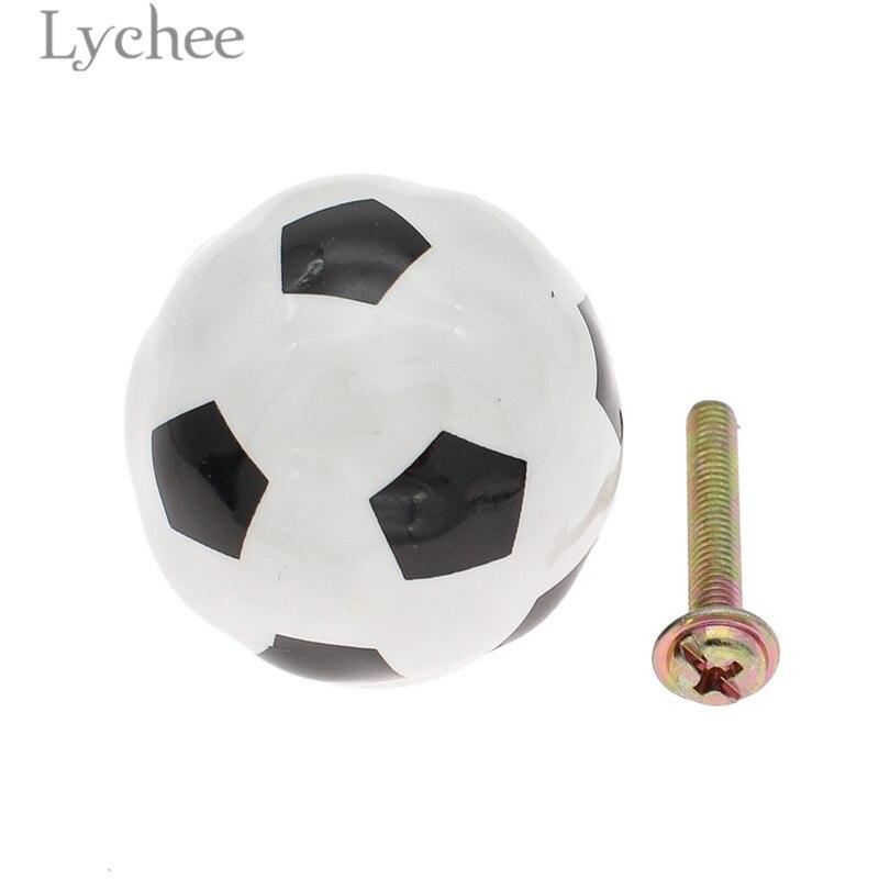 Lychee Life ДИЗАЙН футбольного ящика, выдвижная ручка, креативный керамический шкаф, тянет ручки мебельного шкафа, поставка для домашнего улучше...