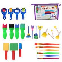 26 шт. В комплекте Детская щетка детская игрушка для игрушек EVA Sponge Seal Sponge Brush Painting Set Toys для детей DIY Painting