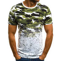FLYFIREFLY Camouflage Printed Men T Shirt 2019 New Bottoms Top Tees Male Fashion Streetwear Casual Tshirts Dropshipping