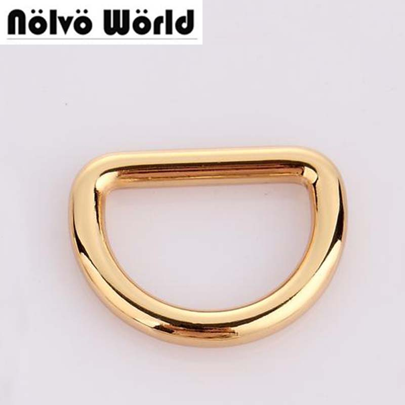 30pcs 4 Colors Line 5.0mm 1 1/4 Inch 32mm Inside Diy Bags Metal Accessory Alloy Gold Round D Ring Loop For Handbag Metal