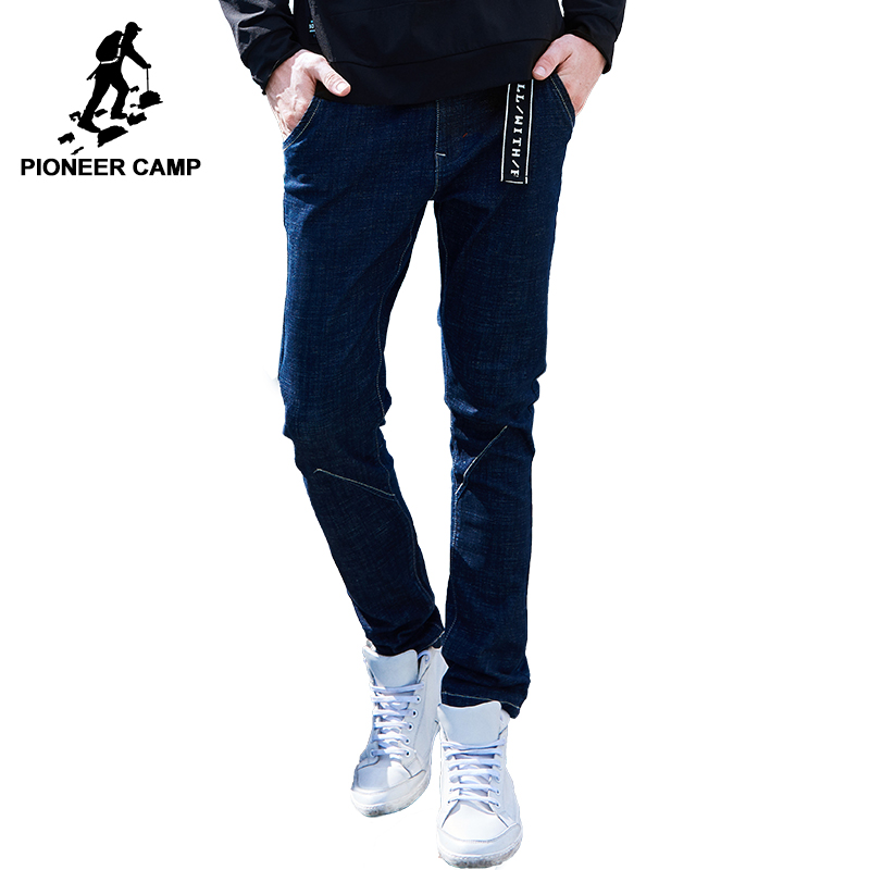 Pioneer Camp 2018 New arrival jeans men brand clothing casual denim pants male top quality stretch denim trousers ANZ707024 men jeans 2017 new fashion full length solid skinny jeans men brand designer clothing denim pants luxury casual trousers male