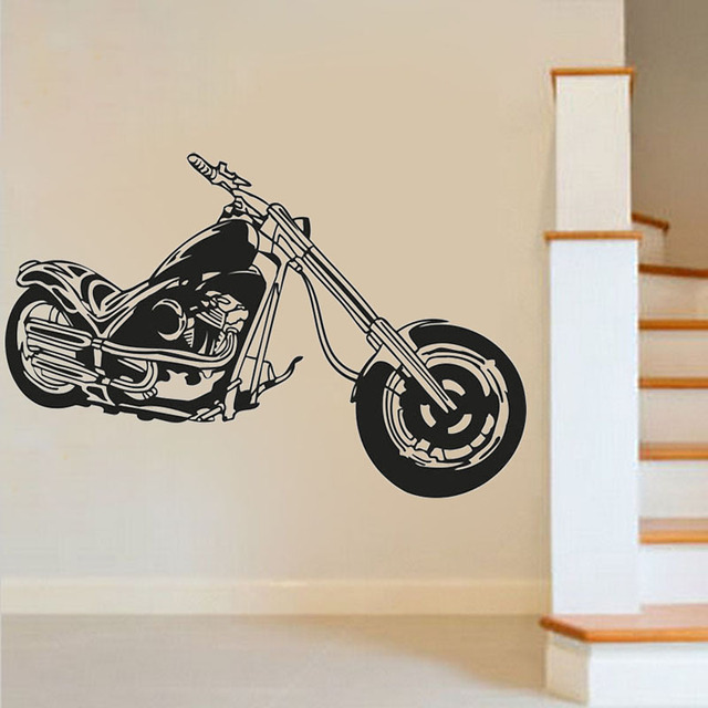 Motorbike Wall Art Sticker Motorcycle Decal Boy Room Sport Murals Creative  Vinyl Art Decals Window Mural