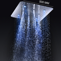 2 Functions Shower Head 304 Stainless Steel Mirror Surface Rain + Mist Shower 20 inch Ceiling Mounted without mixer
