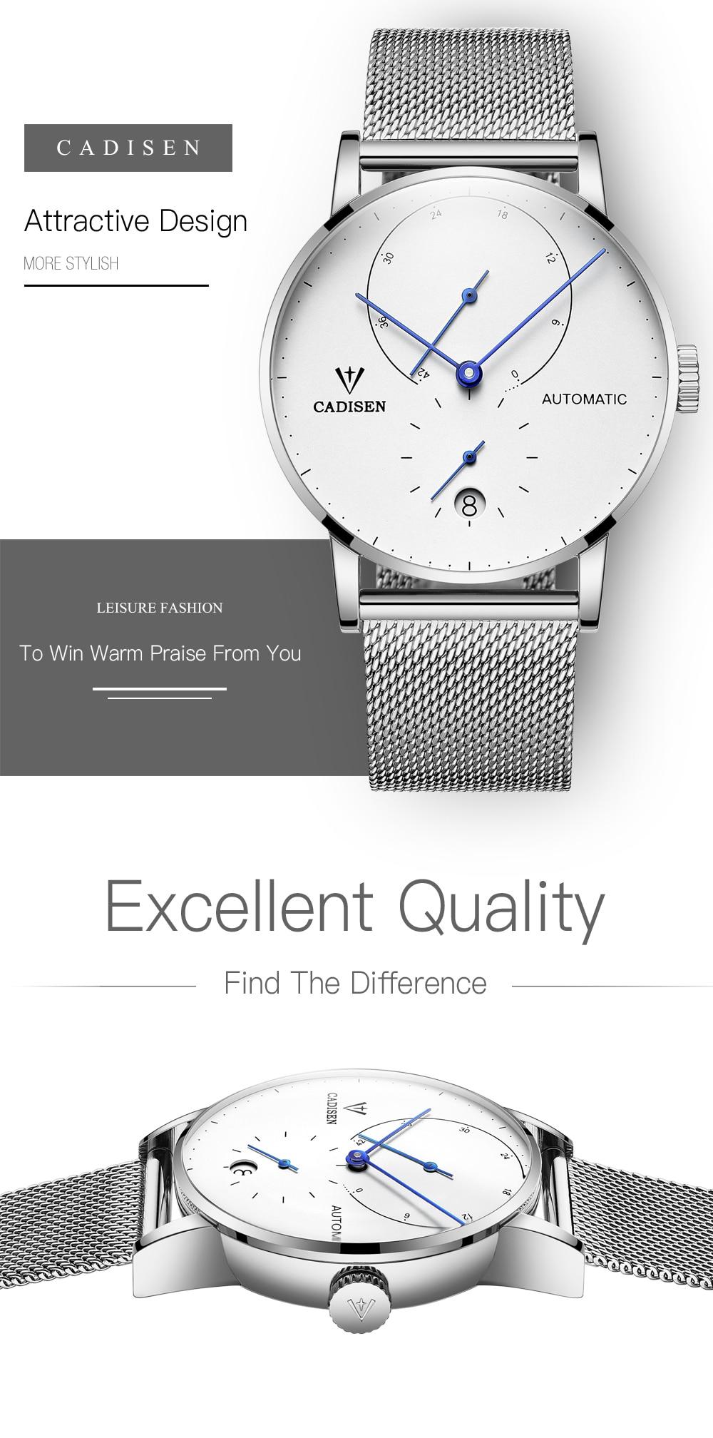 HTB1IrYMDeuSBuNjSsplq6ze8pXaX Mens Watches CADISEN 2019 Top Luxury Brand Automatic Mechanical Watch Men Full Steel Business Waterproof Fashion Sport Watches