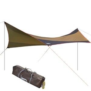 Image 1 - الصحراء والثعلب التخييم الشمس المأوى ، 5 8 شخص مقاوم للماء والأشعة فوق البنفسجية حماية الشاطئ الشمس الظل ، 18x18.4 قدم كبيرة في الهواء الطلق خيمة الأقمشة