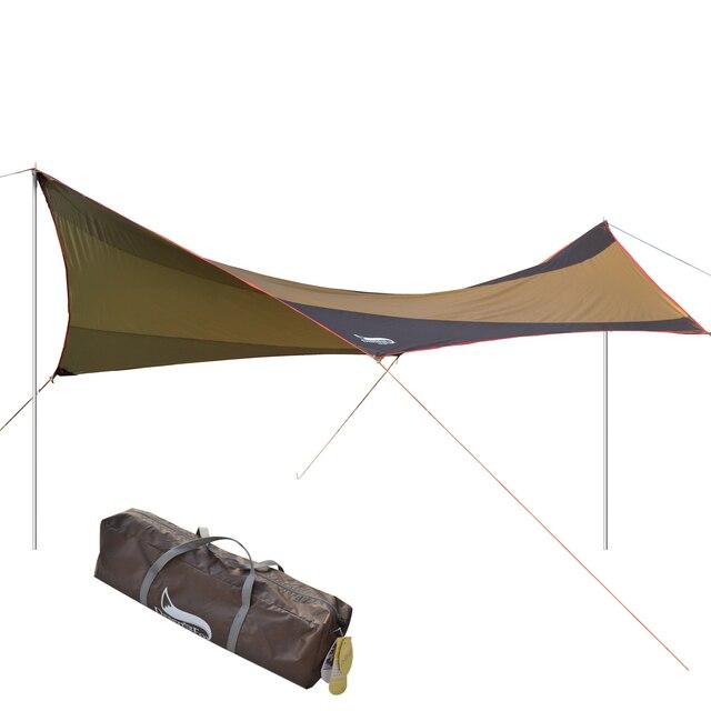 الصحراء والثعلب التخييم الشمس المأوى ، 5 8 شخص مقاوم للماء والأشعة فوق البنفسجية حماية الشاطئ الشمس الظل ، 18x18.4 قدم كبيرة في الهواء الطلق خيمة الأقمشة