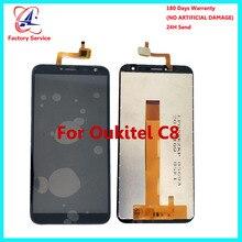 Для 100% оригинал Oukitel C8 ЖК-дисплей Дисплей + Сенсорный экран Панель цифровой Запчасти для авто сборки 5,5 дюйма + клей ЖК-дисплей Стекло