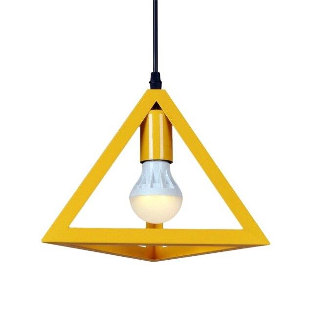 creativo Venta Lámpara de barata colgante triangular hierro zMSUpqV