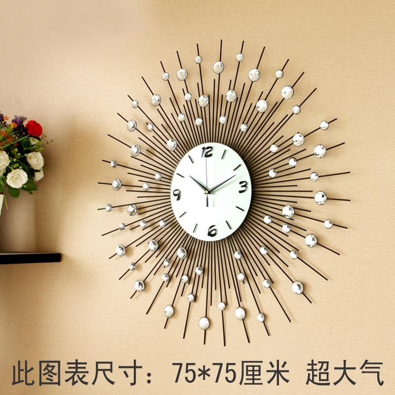 Luxury Large Living Room Wall Clock Fashion E Quartz Personalized Modern Wall  Clock Fashion Clock ... Part 50