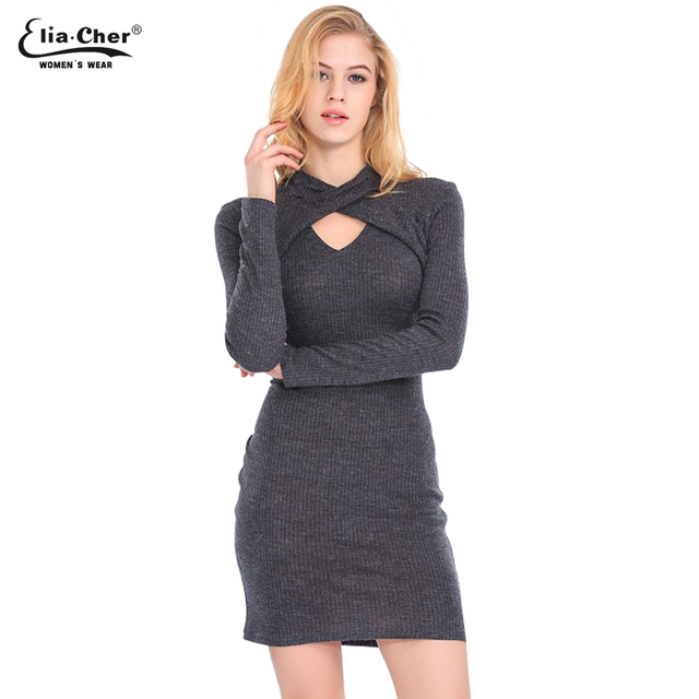 US $11.98 |Women Dress Eliacher Brand Winter Turtleneck Dresses Plus Size  Women Clothing Bodycon Warm Sweater Dresses-in Dresses from Women\'s  Clothing ...