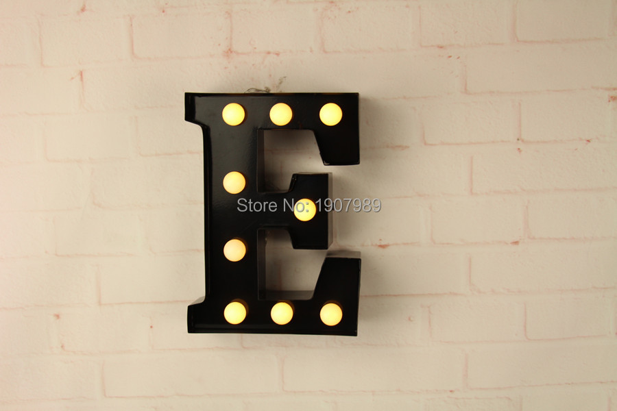 aliexpresscom buy 9 metal letters light led alphabet marquee sign light up vintage metal letter signs light indoor wall deration customize order from