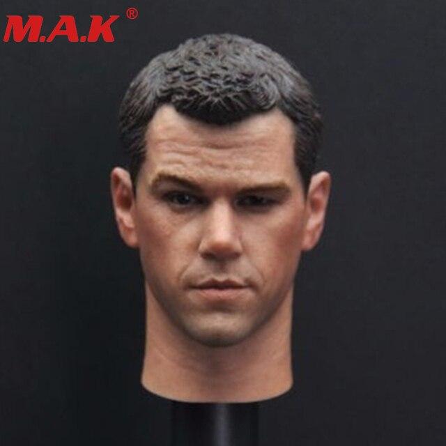 "1/6 scale Matt Damon head sculpt headplay carving with neck the elder version darker for 12"" male man boy action figure body"