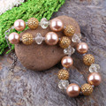 Free Shipping 3Pcs/Lot Lovely Baby Girls Jewelry DIY Chunky Bead Pendant Necklace Kids Child Bubblegum Necklace Handmade