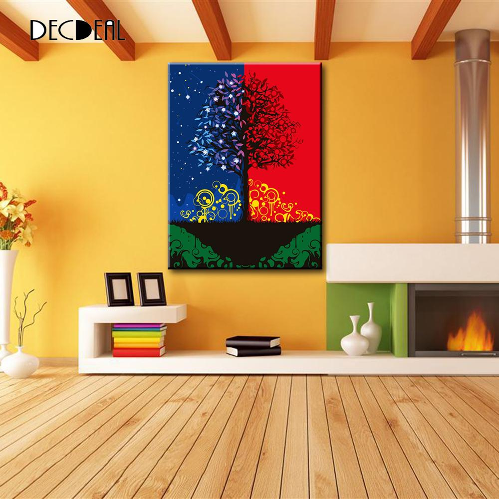 Diy oil painting by numbers kit painted unframed handwork for Hand work decoration