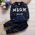 The boy fall 16 suit on behalf of wholesale Korean children autumn cotton camouflage suit fashion sweater letters