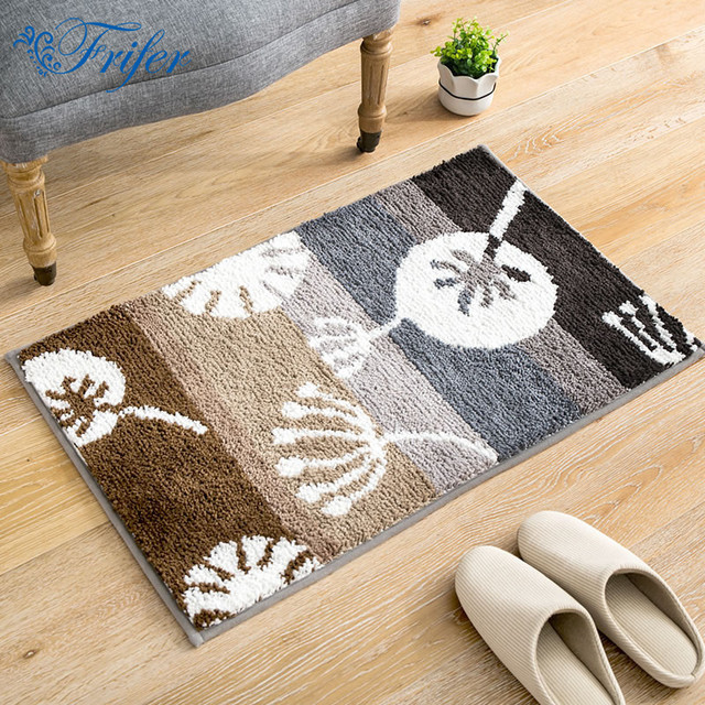 45x65cm Dandelion Flocking Mat Outdoor Rug Bathroom Kitchen Anti ...