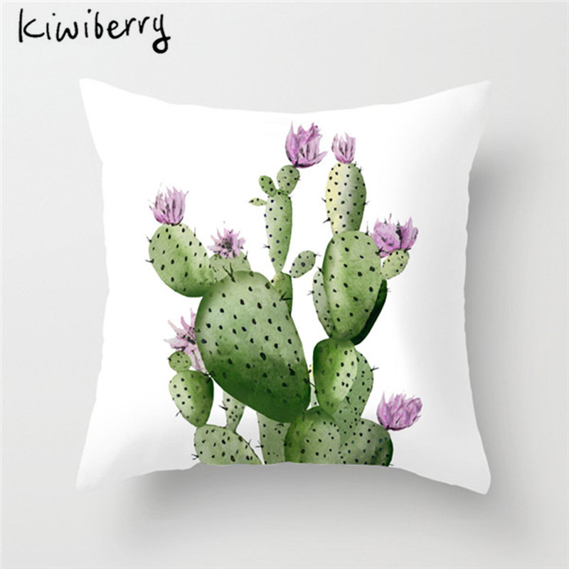 18 Square Green Tropical Plants Leaves Cactus soft Velvet Pillow Case Cushion Cover For Home Car Hotel Decoration 19 styles