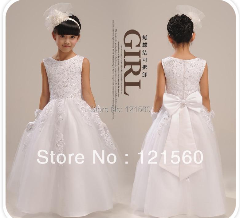 comprar envo gratuito de alta quailty vestidos de nia para bodas elegante piso longitud vestido de encaje de aos de girls short