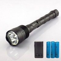 Brightness LED Flashlight Torch T6 2000lm flash light torch lamp linternas tactical outdoor +3* 18650 battery + charger